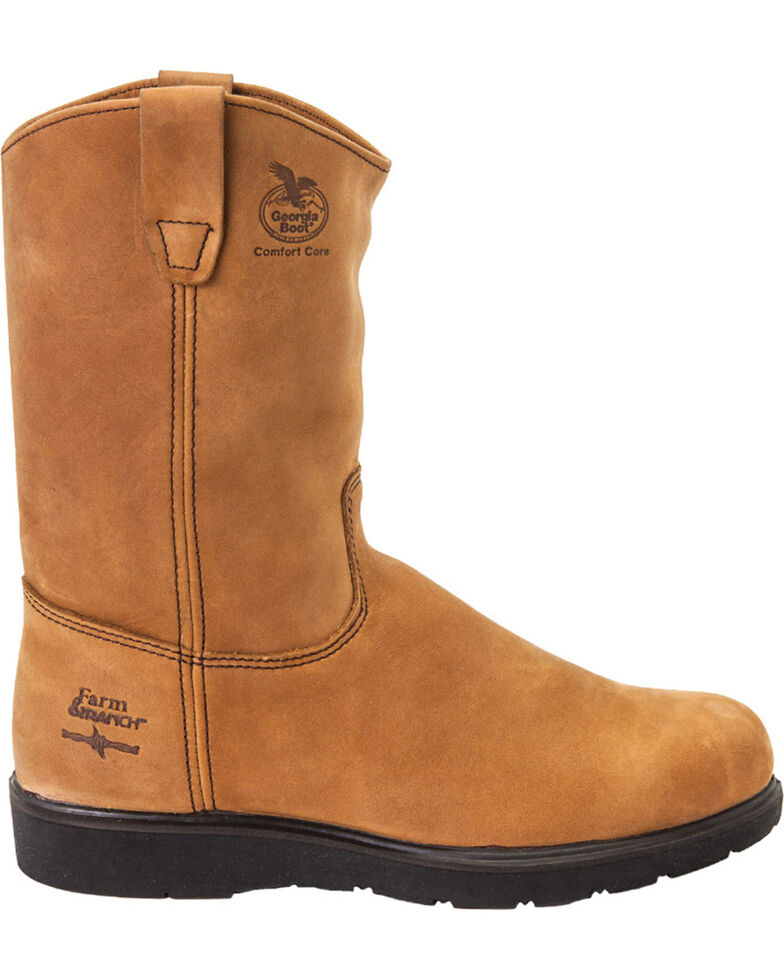 Georgia Men's Farm & Ranch Wellington CC Work Boots, Tan, hi-res