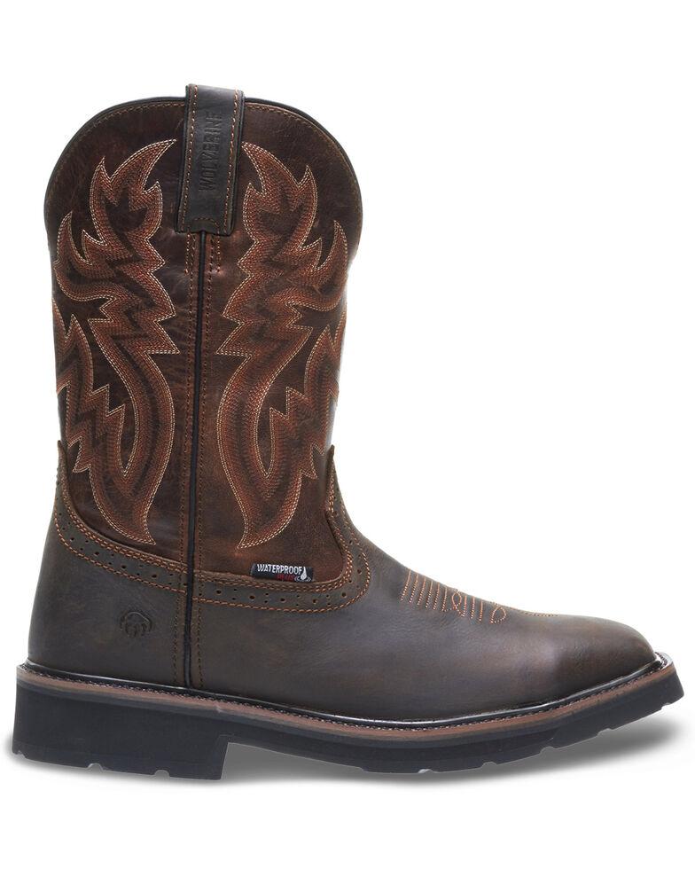 Wolverine Men's Rancher Waterproof Western Boots - Soft Toe, Brown, hi-res