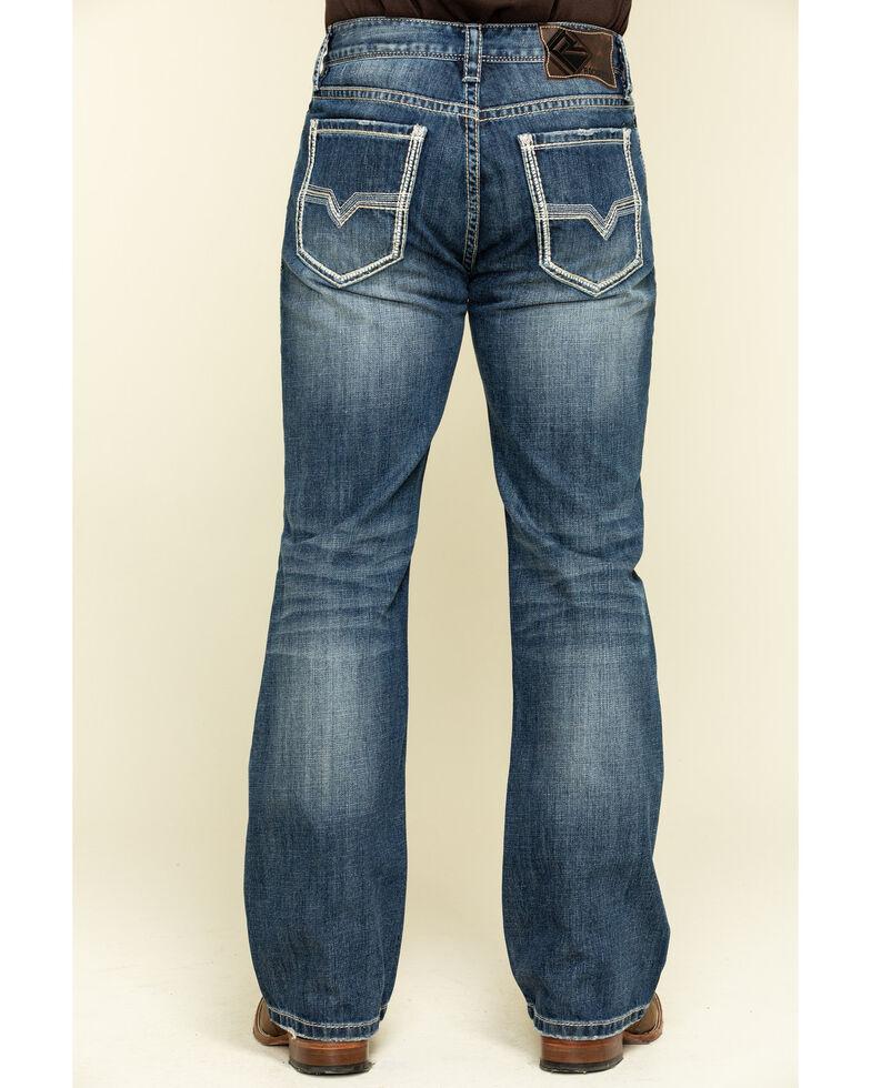 Rock & Roll Denim Men's Double Barrel Dark Vintage Relaxed Bootcut  Jeans , Blue, hi-res