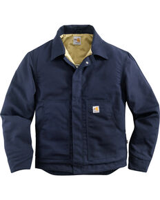 Carhartt Flame Resistant Midweight Canvas Dearborn Jacket - Big & Tall, Navy, hi-res