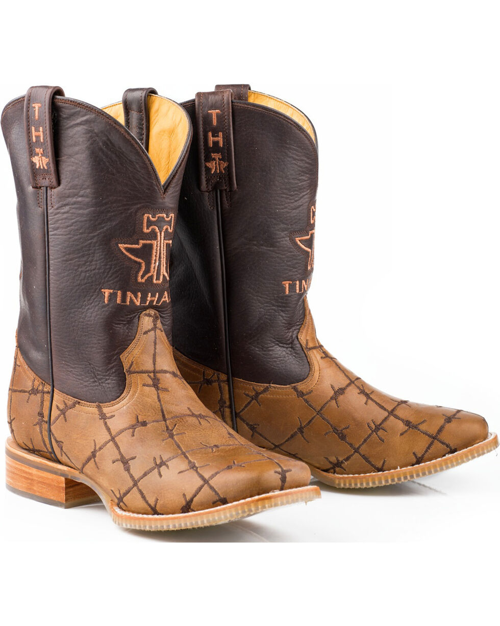 Tin Haul Men's Don't Fence Me In Western Boots, Brown, hi-res