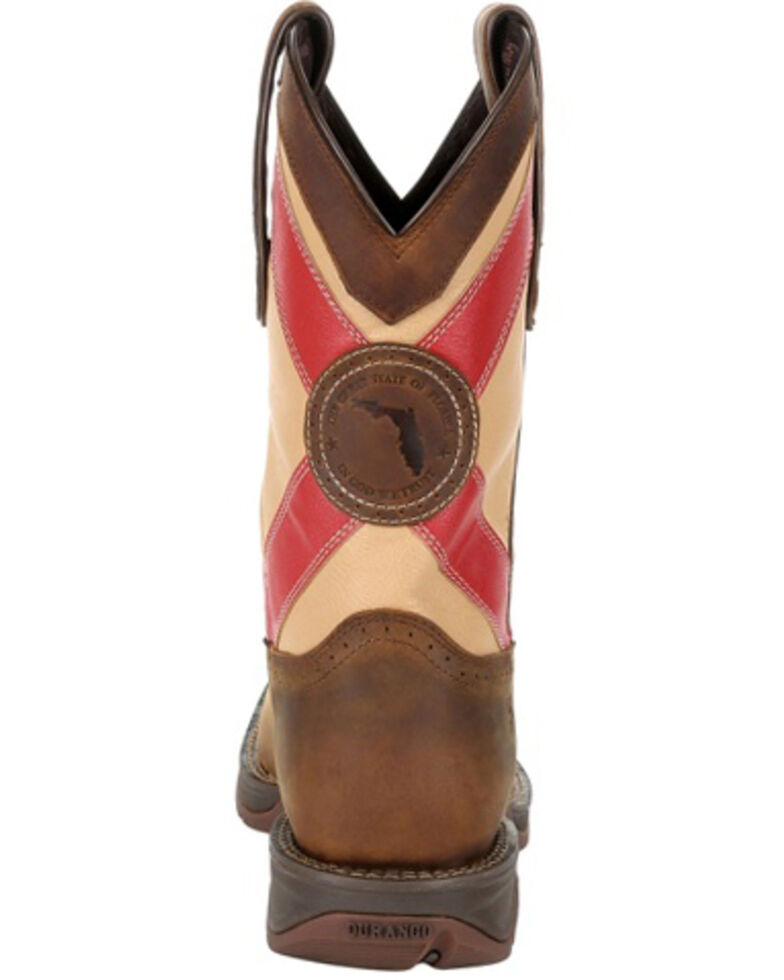 Durango Men's Florida State Flag Western Boots - Square Toe, Brown, hi-res