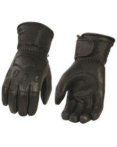 Milwaukee Leather Men's Deerskin Thermal Lined Gauntlet Glove, Black, hi-res