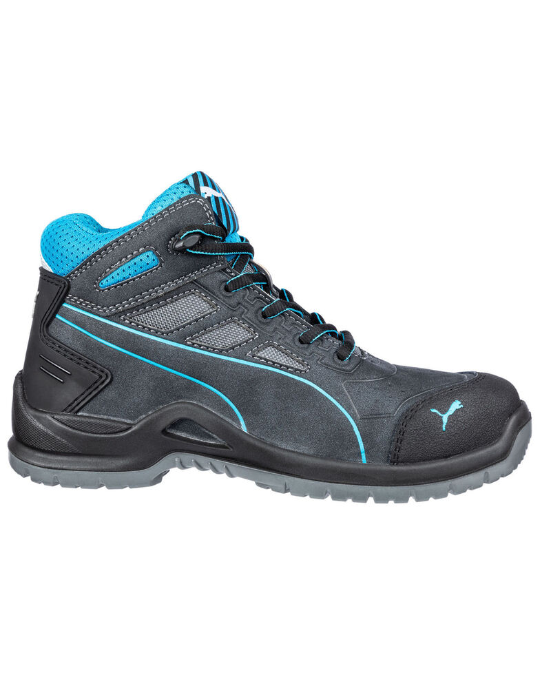 Puma Women's Beryll Mid Work Shoes - Steel Toe, Grey, hi-res