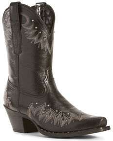 Ariat Women's Potrero Jackal Fashion Booties - Snip Toe, Black, hi-res