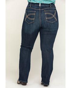 Ariat Women's R.E.A.L. Shayla Mid Rise Bootcut Jeans - Plus, Blue, hi-res