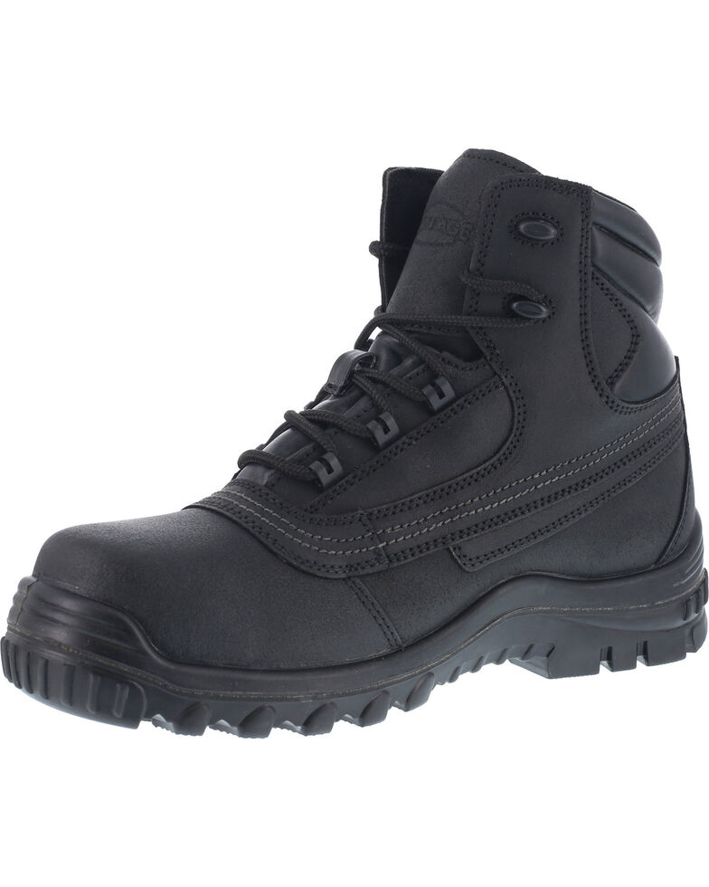 "Iron Age Men's 6"" Waterproof Work Boots - Steel Toe , Black, hi-res"