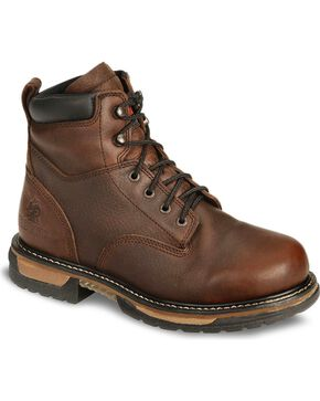 Rocky Men's IronClad Waterproof Work Boot , Bridle Brn, hi-res