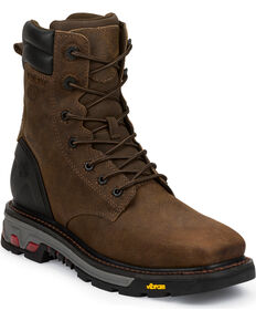 Justin Men's Commander X5 Lace-Up Waterproof Boots, Timber, hi-res