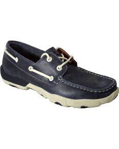 Twisted X Women's Casual Boat Shoes, Blue, hi-res