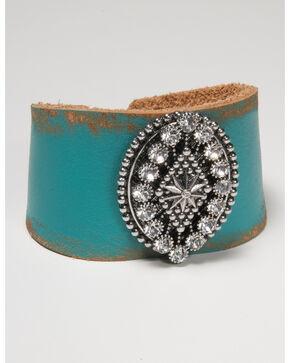Cowgirl Confetti Women's Desert Sky Cuff, Turquoise, hi-res