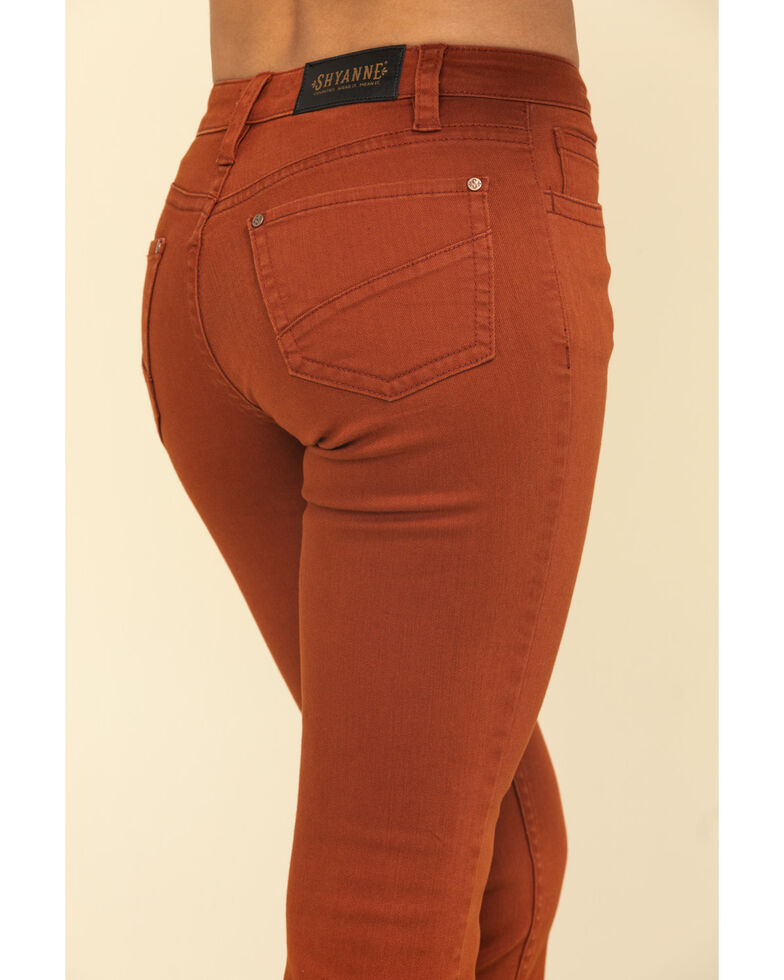Shyanne Women's Rust Studded Front Seam Bootcut Jeans, Rust Copper, hi-res