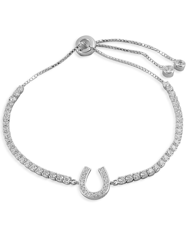 Kelly Herd Women's Horseshoe Bolo Bracelet, Silver, hi-res