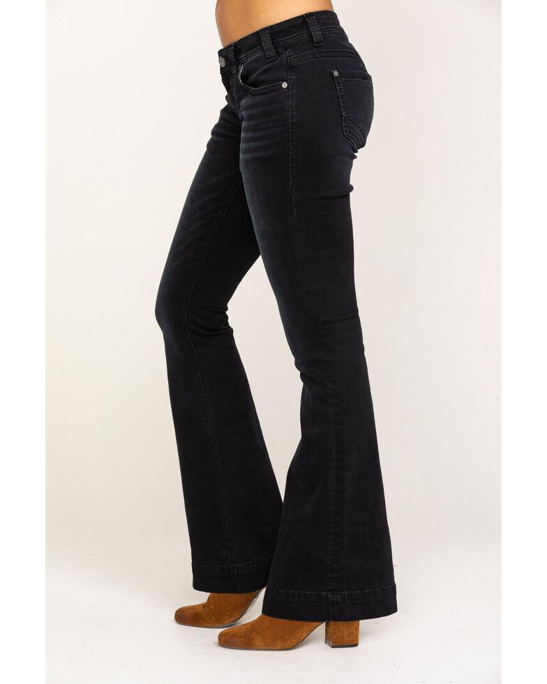 Rock & Roll Denim Women's Black Low Rise Trouser, Black, hi-res
