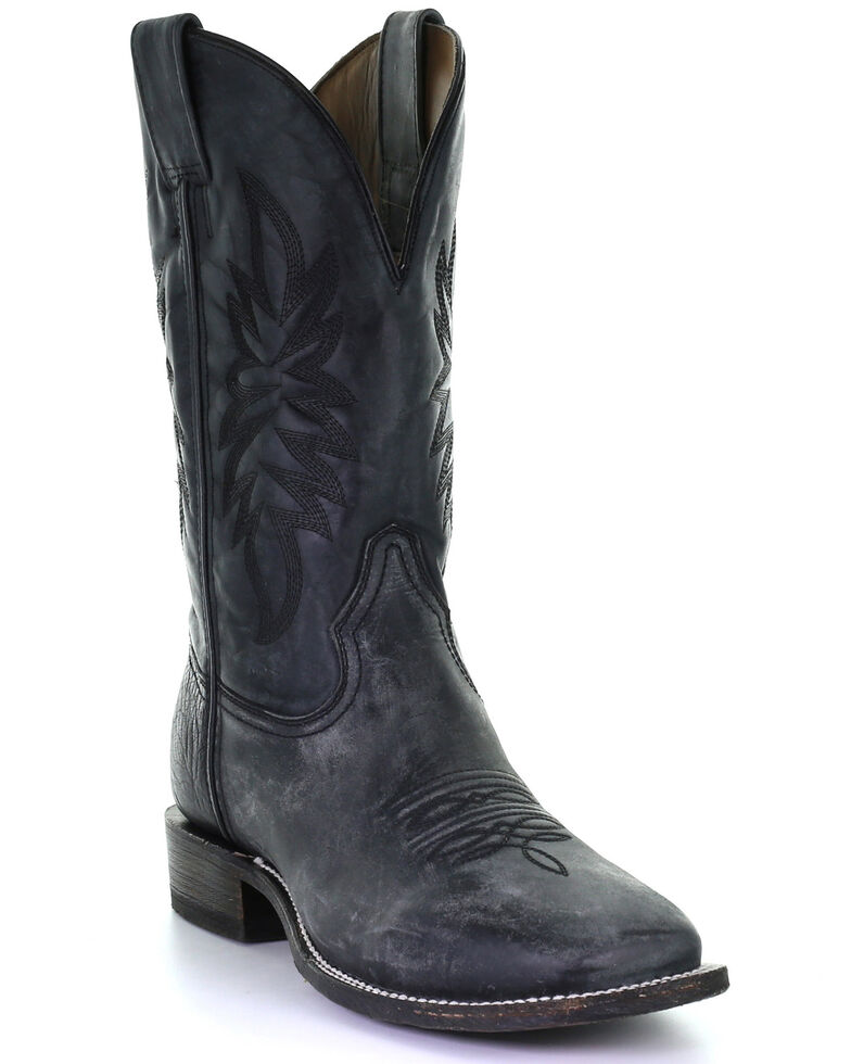 Corral Men's Rodeo Black Western Boots - Square Toe, Black, hi-res