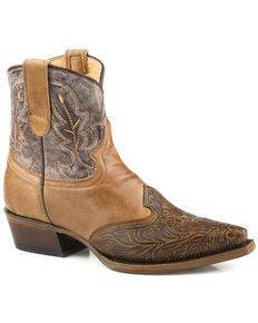 Roper Women's Brown Steppin' Out Boots - Snip Toe , Brown, hi-res