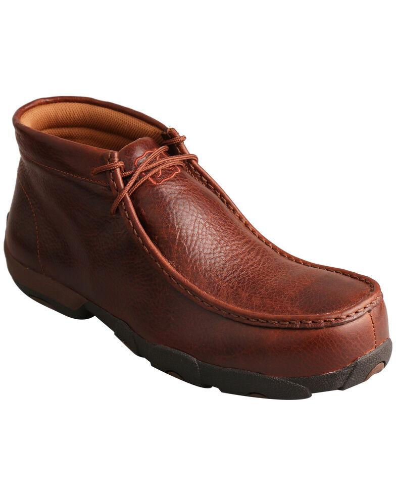 Twisted X Men's Composite Toe Driving Moc Work Shoes, Cognac, hi-res