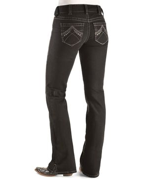 Ariat Women's Real Denim Black Boot Cut Riding Jeans, Blk Denim, hi-res