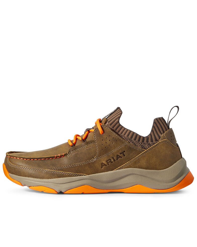 Ariat Men's Country Mile Hiker Boots - Moc Toe, Brown, hi-res