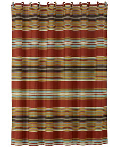 HiEnd Accents Calhoun Striped Shower Curtain, Multi, hi-res