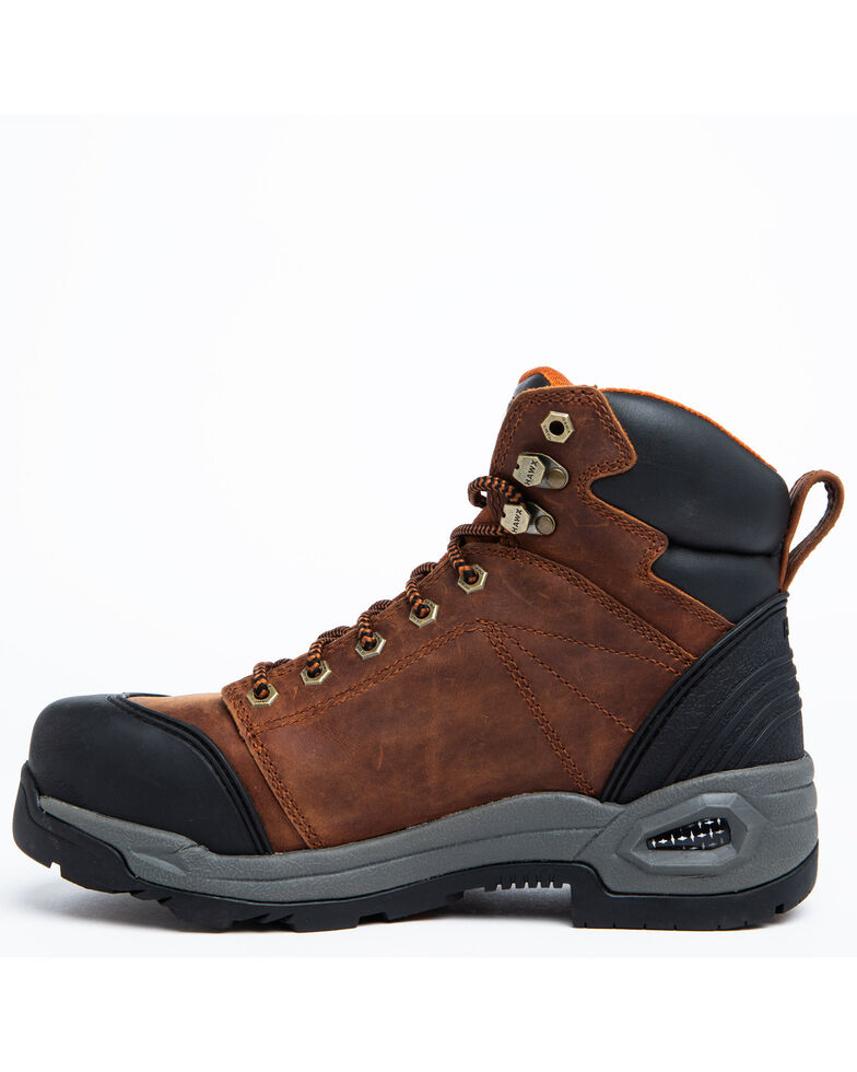 Hawx Men's Rust Waterproof Work Boots - Soft Toe, Rust Copper, hi-res