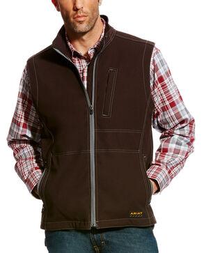 Ariat Men's Rebar Canvas Softshell Vest - Tall, Black, hi-res