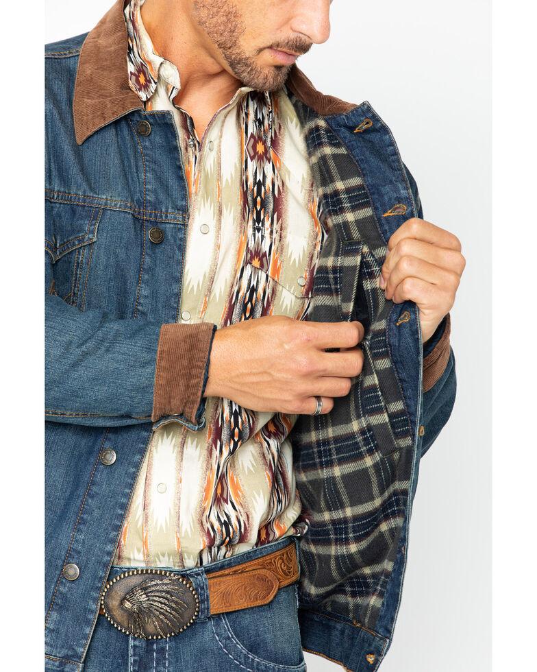 Wrangler Men's Concealed Carry Blanket Lined Denim Jacket , Indigo, hi-res