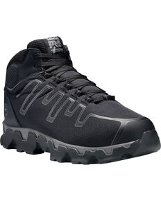 Timberland Pro Men's Powertrain Mid EH Work Shoes - Alloy Toe, Black, hi-res