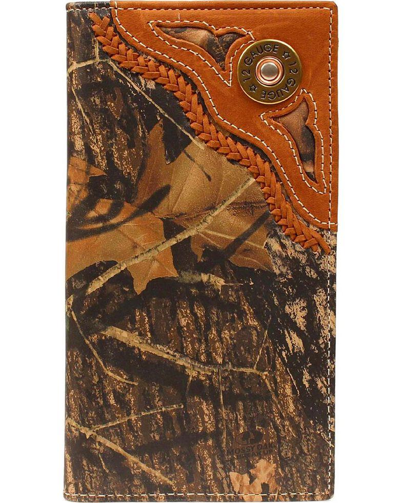 Nocona Men's 12 Gauge Camo Checkbook Wallet, Camouflage, hi-res