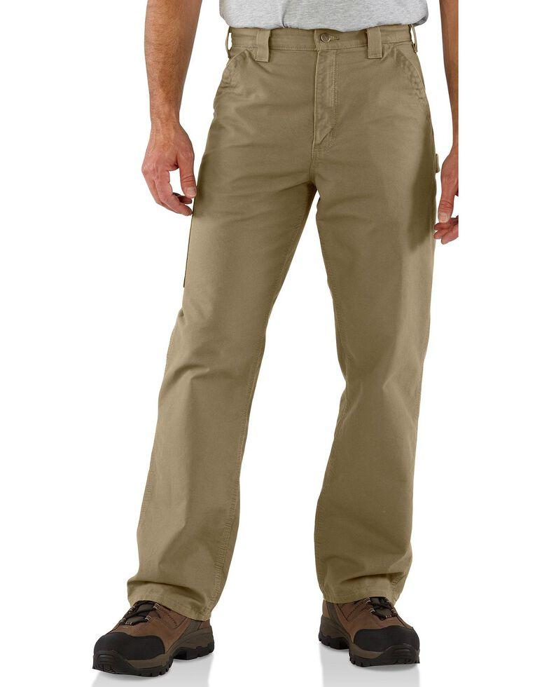 Carhartt Men's Canvas Dungaree Work Pants, Khaki, hi-res