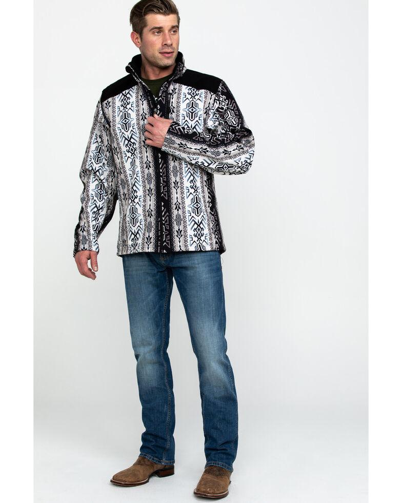 Powder River Outfitters Men's Aztec Soft Shell Jacket , Black, hi-res