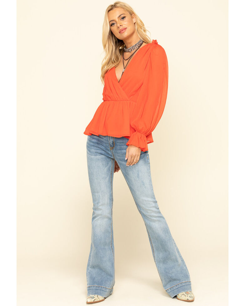 Grace in LA Women's Light Wash Flare Jeans , , hi-res
