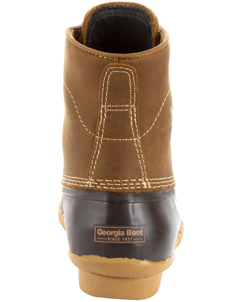 Georgia Boot Men's Marshland Lace-Up Duck Boots - Round Toe, Brown, hi-res