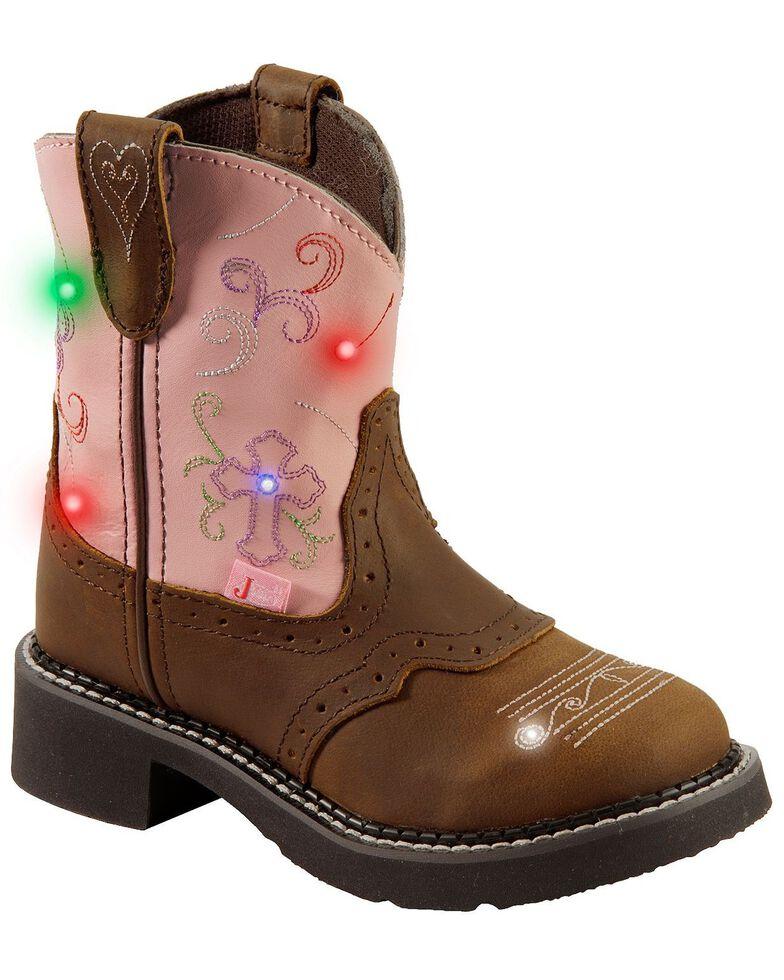 Justin Kid's Gypsy Flower Western Boots, Bay Apache, hi-res