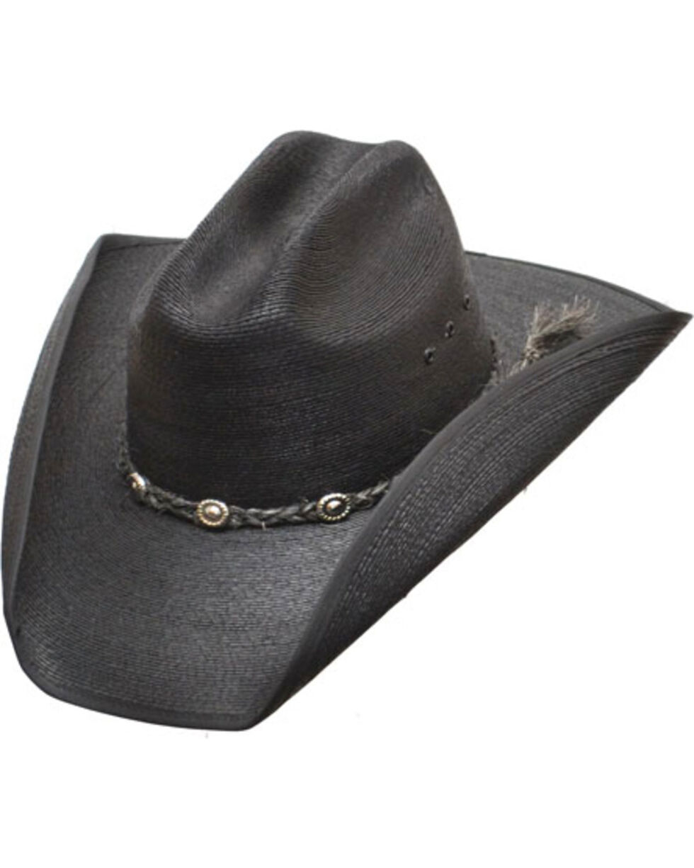 Western Express Men's Black Cattleman Palm Western Hat, Black, hi-res