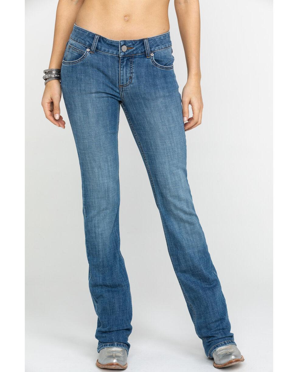 As Real As Wrangler Women's Medium Wash Everyday Bootcut, Blue, hi-res