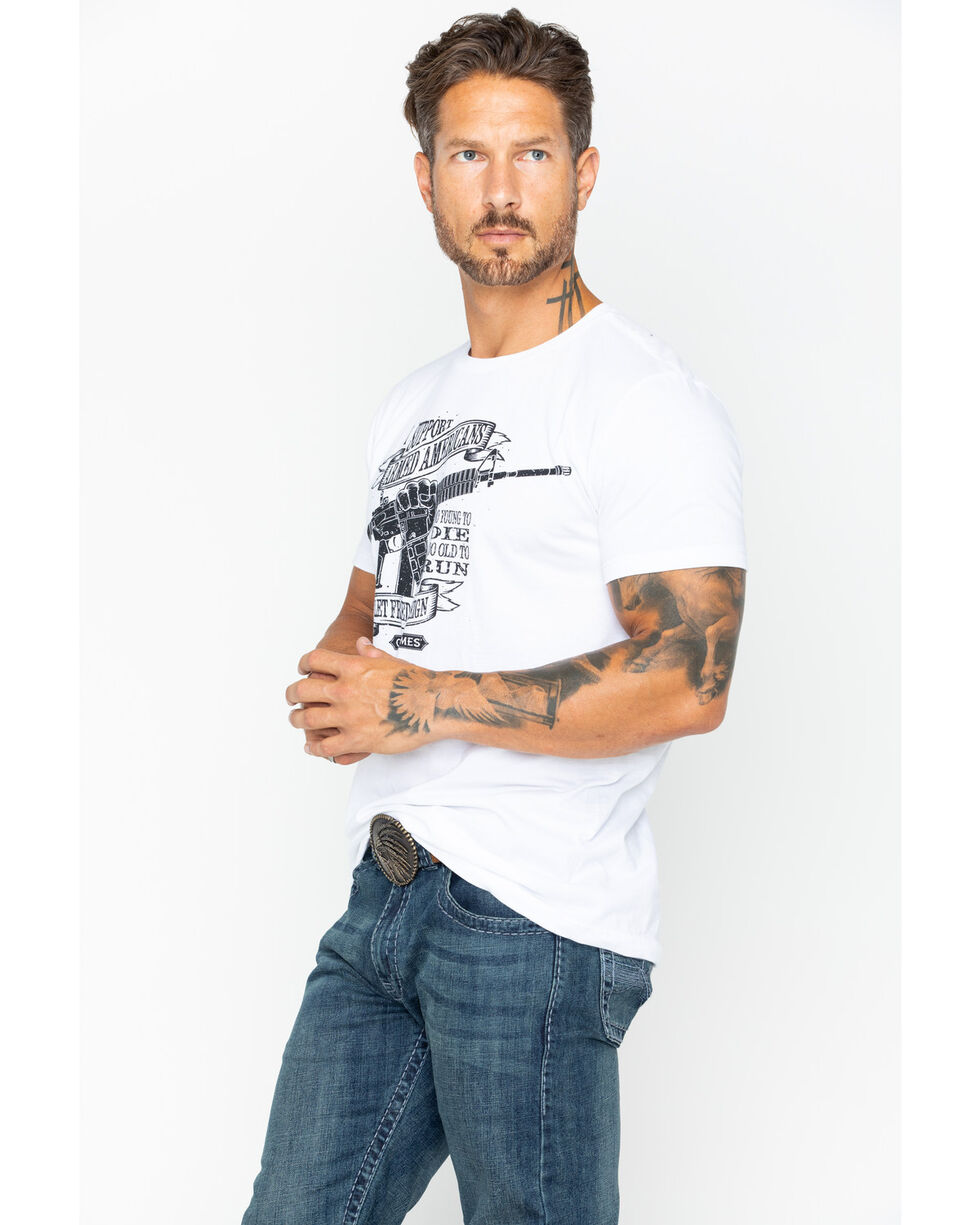 Cody James Men's Armed Americans Short Sleeve T-Shirt, White, hi-res