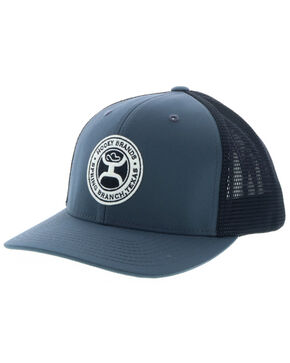 HOOey Men's Grey Guadalupe Trucker Cap , Grey, hi-res