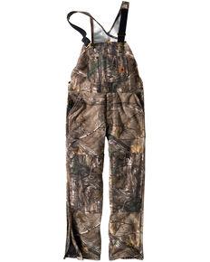 Carhartt Men's Quilt-Lined Camo Bib Overalls, Camouflage, hi-res