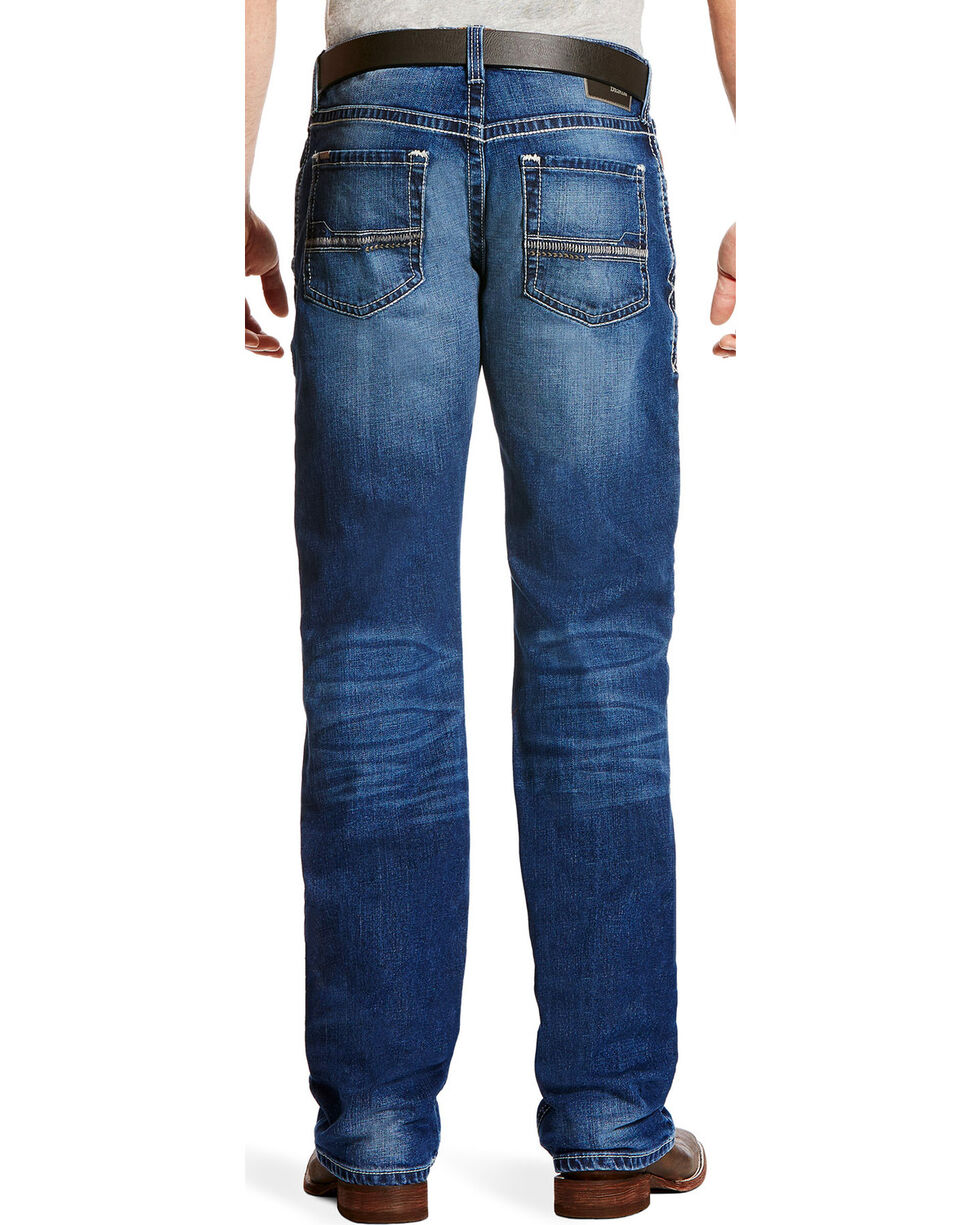 Ariat Men's M4 Dawson Low Rise Jeans - Boot Cut, Indigo, hi-res