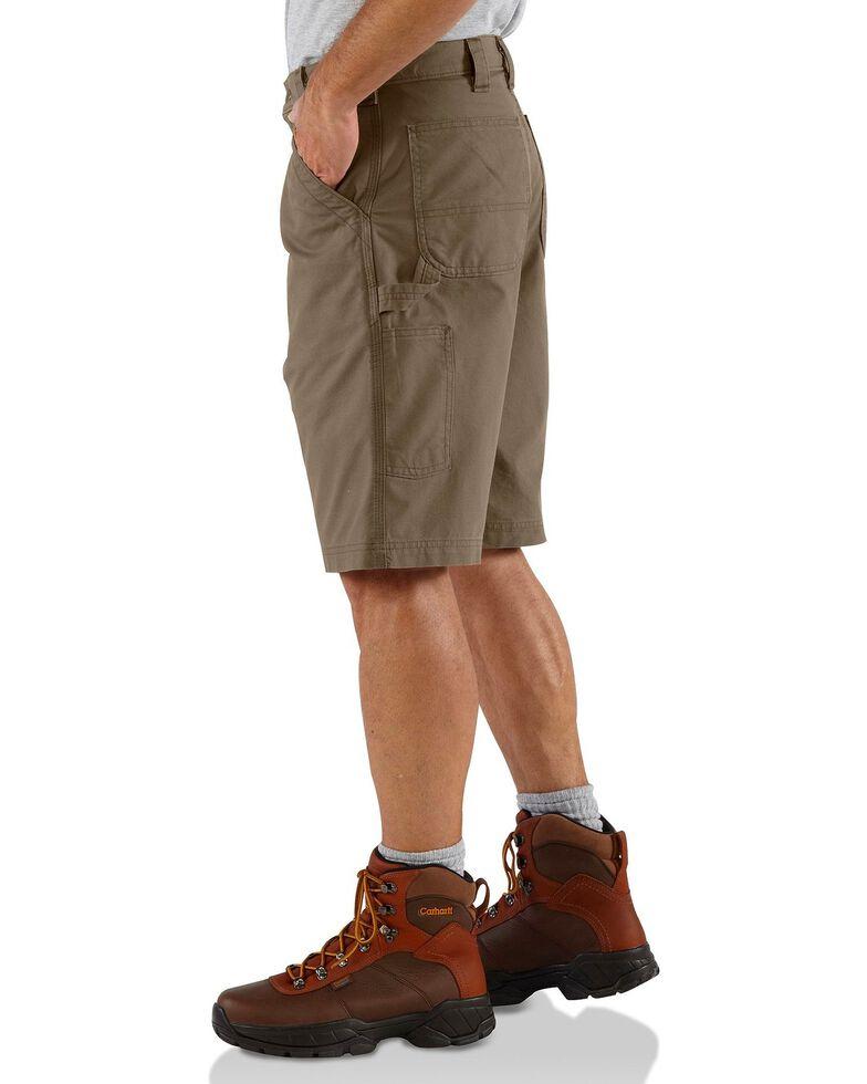 Carhartt Men's Canvas Carpenter Work Shorts, Brown, hi-res