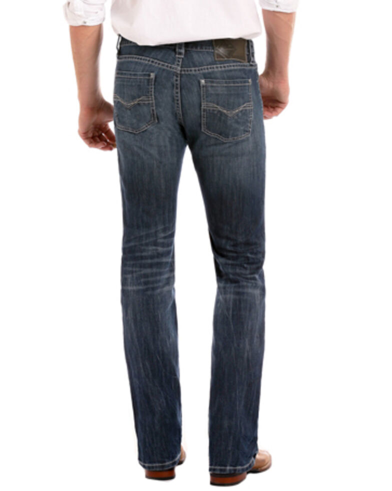 "Rock & Roll Denim Men's Small ""V"" Reflex Revolver Slim Jeans - Straight Leg , Indigo, hi-res"