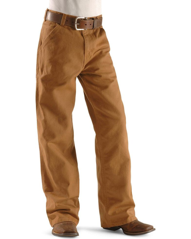 Carhartt Boys' Duck Dungaree Khaki Pants - 8-16, Brown, hi-res
