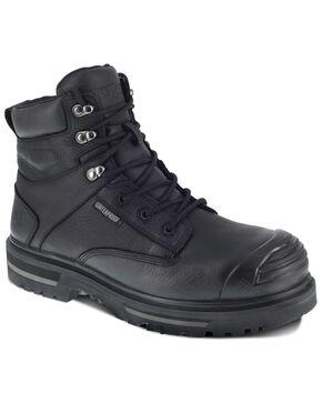 Iron Age Men's Black Troweler Waterproof Work Boots - Composite Toe, Black, hi-res
