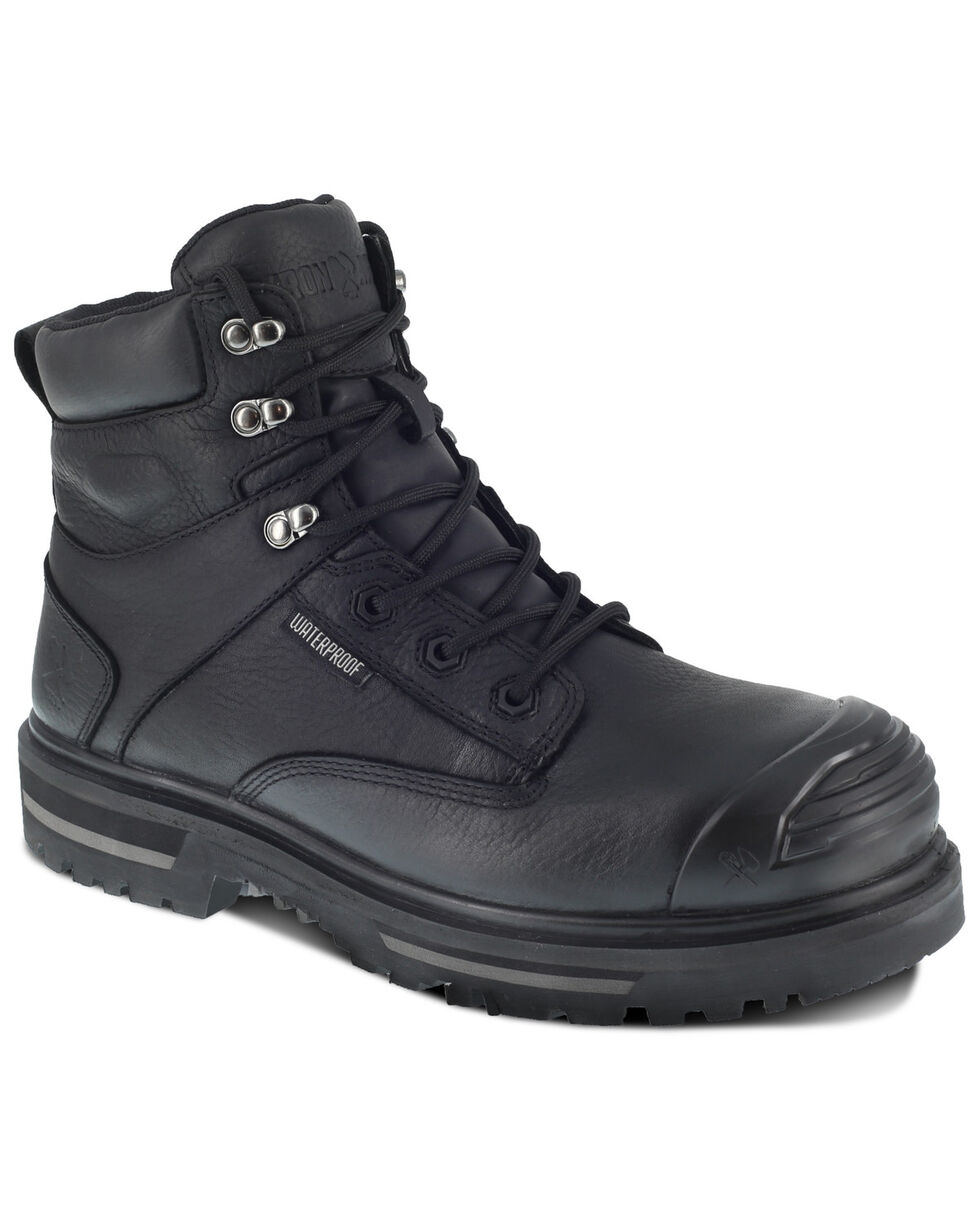 Iron Age Men's Black Troweler Waterproof Work Boots - Composite Toe, Black, hi-res