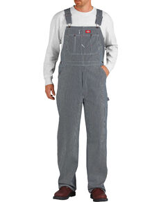 Dickies ® Hickory Stripe Overalls - Big & Tall, Denim, hi-res