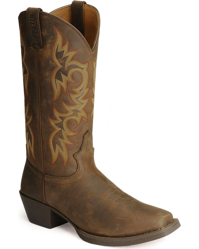 Justin Men S Stampede Western 13 Quot Square Toe Boots Boot Barn