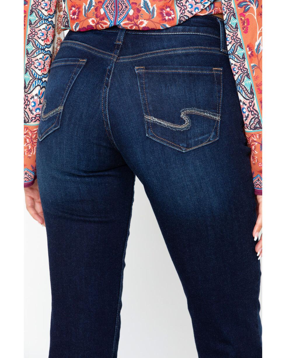 Silver Women's Suki Slim Mid Dark Wash Boot Jeans, Indigo, hi-res