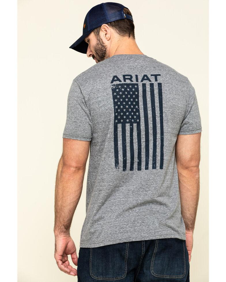 Ariat Men's Grey Freedom Graphic Short Sleeve T-Shirt , , hi-res