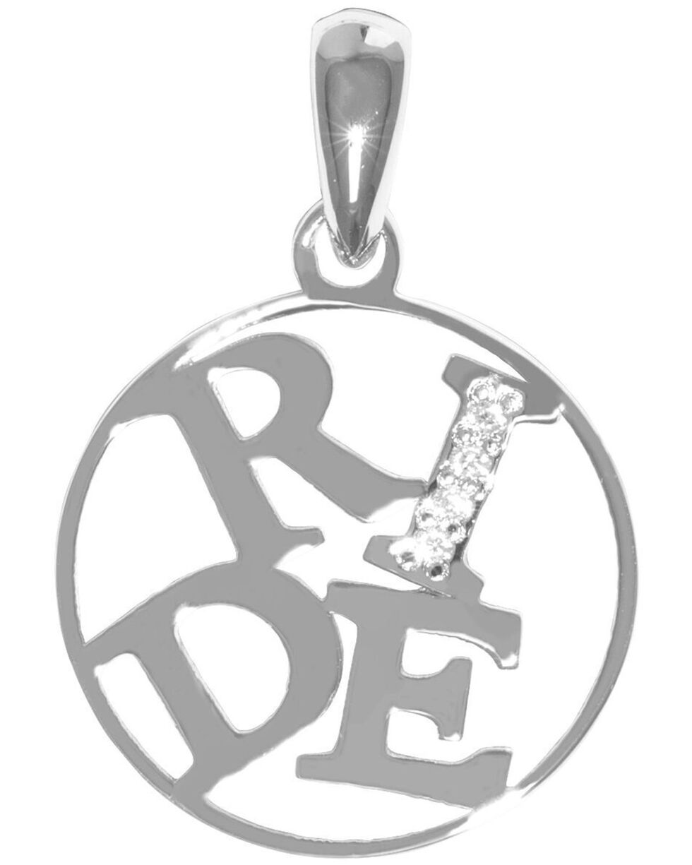 Kelly Herd Women's Silver Ride Pendant Necklace , Silver, hi-res